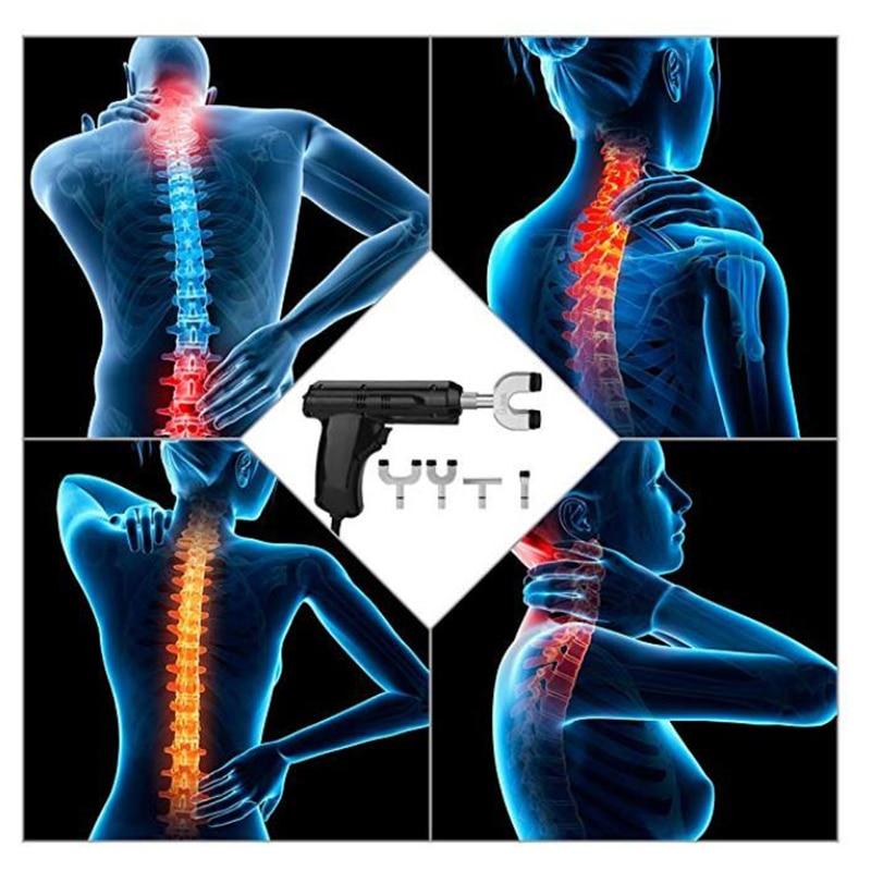 Поясничная мануальная терапия для позвоночника 4 головки активатор шейной терапии массажер/Электрическое импульсное приспособление для коррекции позвоночника пистолет инструмент