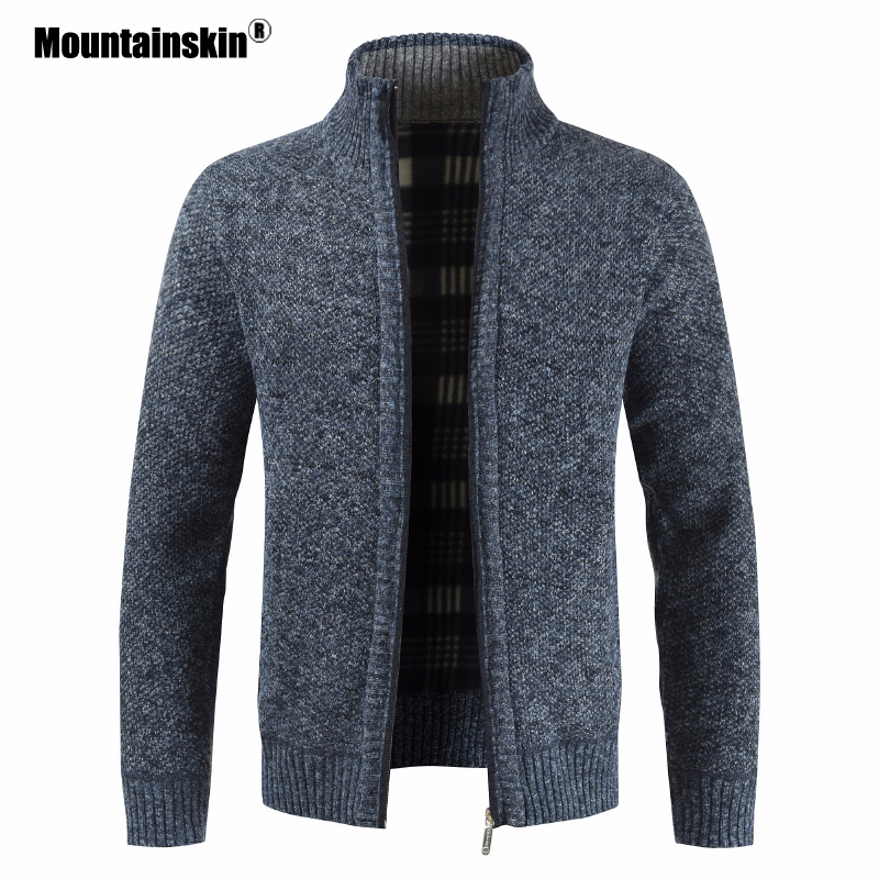 Mountainskin Men's Sweaters Autumn Winter Cardigan Warm Knitted Sweater Jackets Coats Male Clothing Casual Knitwear SA835