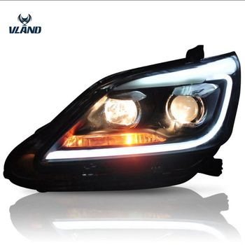 Vland factory for car head light for Innova LED head lamp 2012 2013 2014 2015 with moving signal