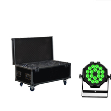 цена на 6X  CHINA STAGE LIGHT 18*18W 6in1 RGBAW UV LED Par Light Aluminum LED Par64 Wash Light DMX Stage Light With Powercon For Event