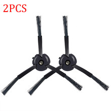 2pcs Black Side Brushes for Xiaomi Mi Roborock S50 S51 S55 T4 T6 Robot Vacuum Cleaner Parts Replacement Accessories(China)