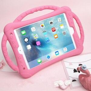Image 1 - Do iPada 10.2 2019 2020 etui silikonowe, odporne na wstrząsy dzieci nietoksyczne etui z podstawką dla dzieci do iPada 7th 8th Generation Kickstand Shell