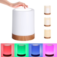 Berühren Steuerung Nacht nacht Licht USB Aufladbare Dimmbare Tisch Lampe Warm Weiß RGB Farbe Ändern Nacht Licht Wohnzimmer