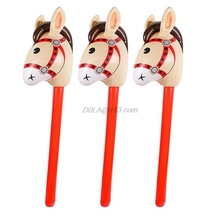 Balloon Educational-Toys Cowgirl-Stick Inflatable-Horse-Heads Outdoor Children for Babies