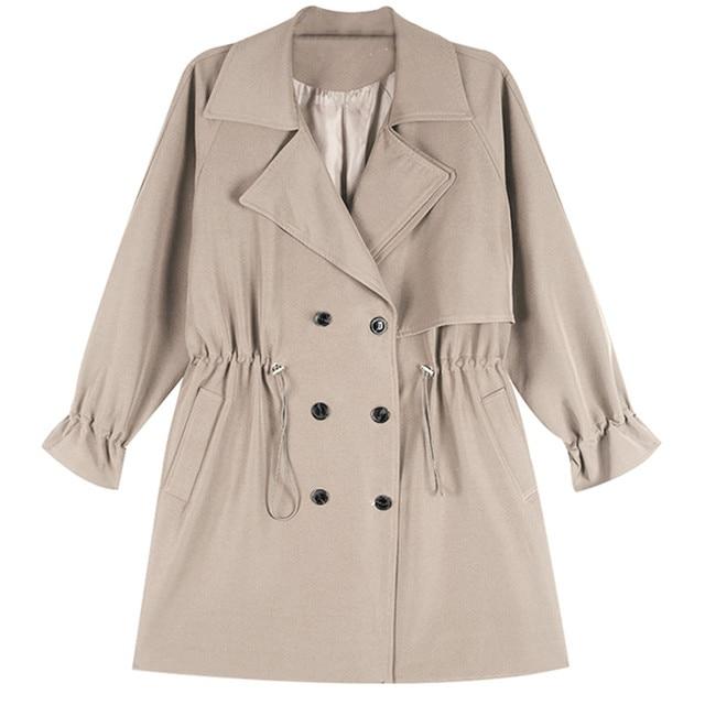 FTLZZ Women Windbreaker Spring Autumn Classic Trench Coat Casual Thin Female Overcoat Long Coat Female Slim Outwear Coats 6
