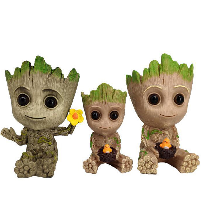 Strongwell Baby Groot Flowerpot Action Figures Home Decoration Cute Model of The Galaxy Cute Model Toy