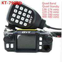 QYT KT 7900D 25W Quad band Mobile Radio transceiver 144/220/350/440MHZ 25W Ham Car Mobile Radio
