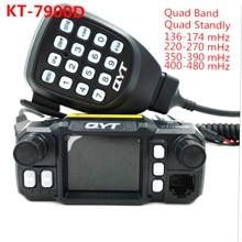 QYT KT-7900D 25W Quad band Mobile Radio transceiver 144/220/