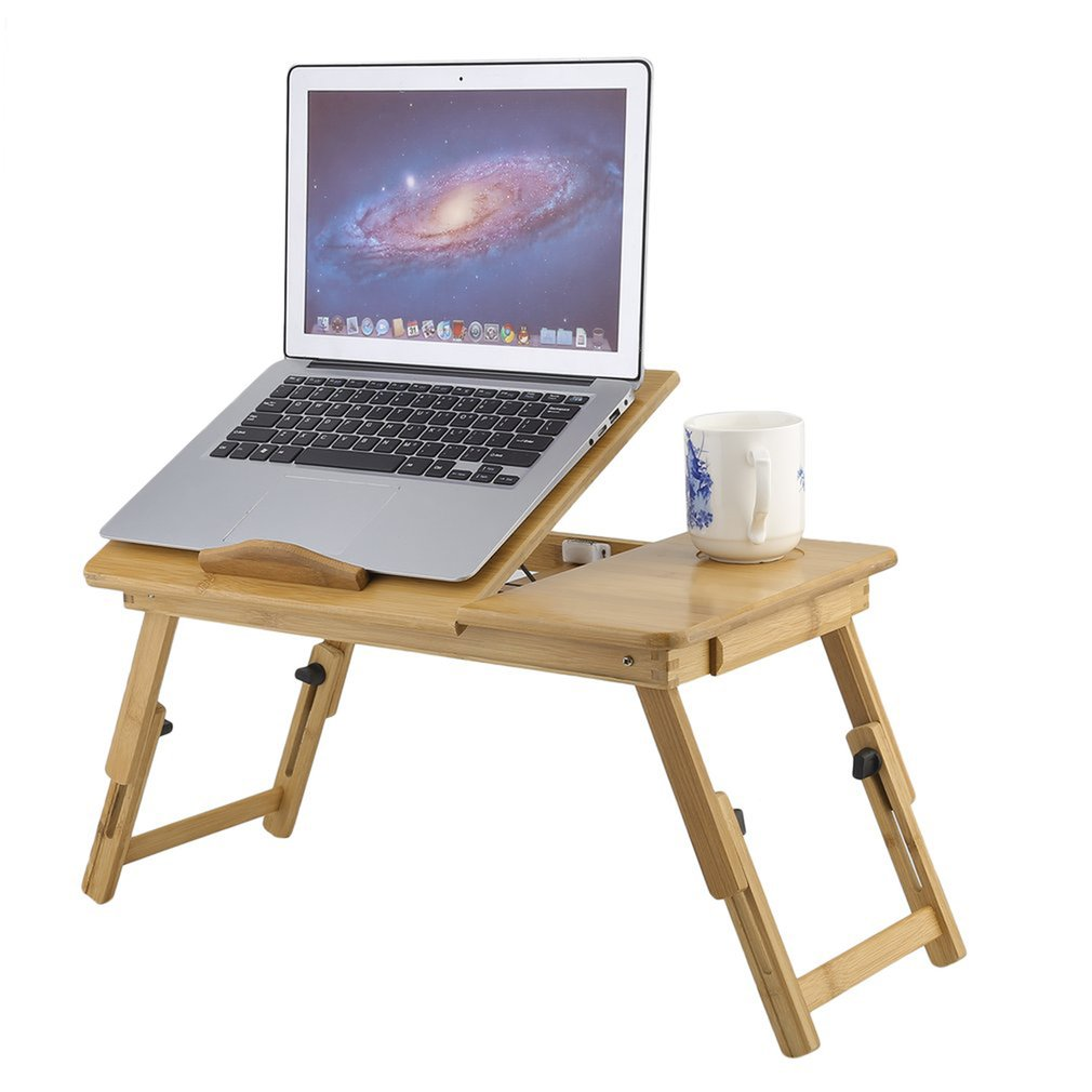Classical Portable Adjustable Folding Bamboo Laptop Table Sofa Laptop Stand Desk Computer Notebook Bed Table Mesa Plegable