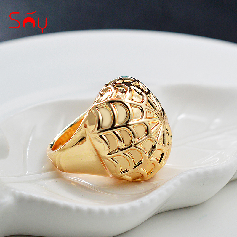 Sunny Jewelry Big Ring 2021 New Design High Quality Copper Ring Jewelry For Women Bridal Ring For  Trendy Ring Spider Web Gift