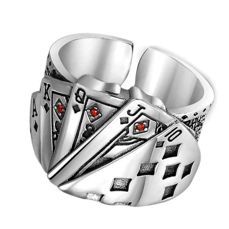 Мужское кольцо в стиле панк/хип-хоп