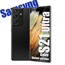 Versão global s21 ultra 6.1 hd polegada 6gb + 128gb smartphones telefones celulares android face id dupla sim telefones celulares