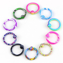 10pcs Fake Piercing Piercing Jewelry For Women Medical Stainless Steel Colorful