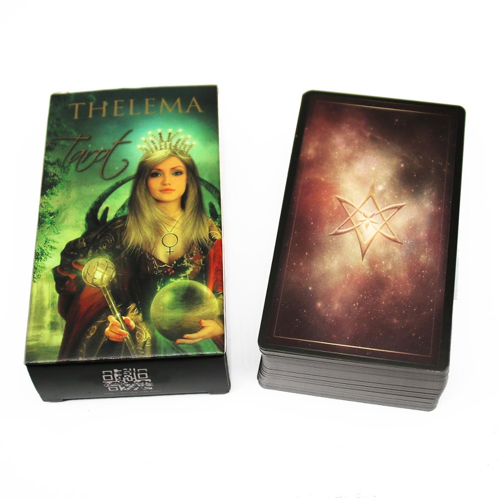 Thelema Tarot Cards  Lo Scarabeo With Deep Wisdom And The Levity Of True Inspiration Reading Deck For Beginners