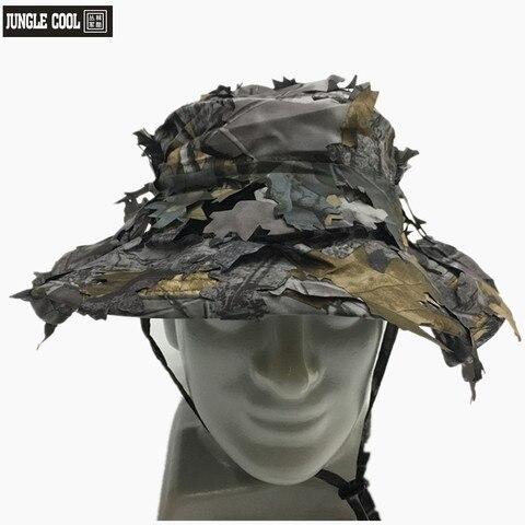 Escondido com Folha Tático Deixa Camuflagem Militar Caça Boné Sniper Chapéu Biônica