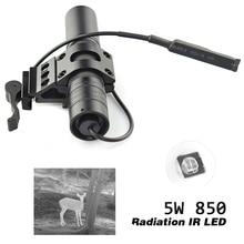 Activefire 5 واط 850NM الأشعة تحت الحمراء مصباح ليد جيب LED للرؤية الليلية الشعلة 38 مللي متر عدسة إضاءة بالأشعة تحت الحمراء قابل للتعديل زوومابلي الشعلة للصيد