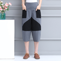 Summer and autumn 2020 women's fashion wild gray black women's 7-point pants casual pants  1000-1001