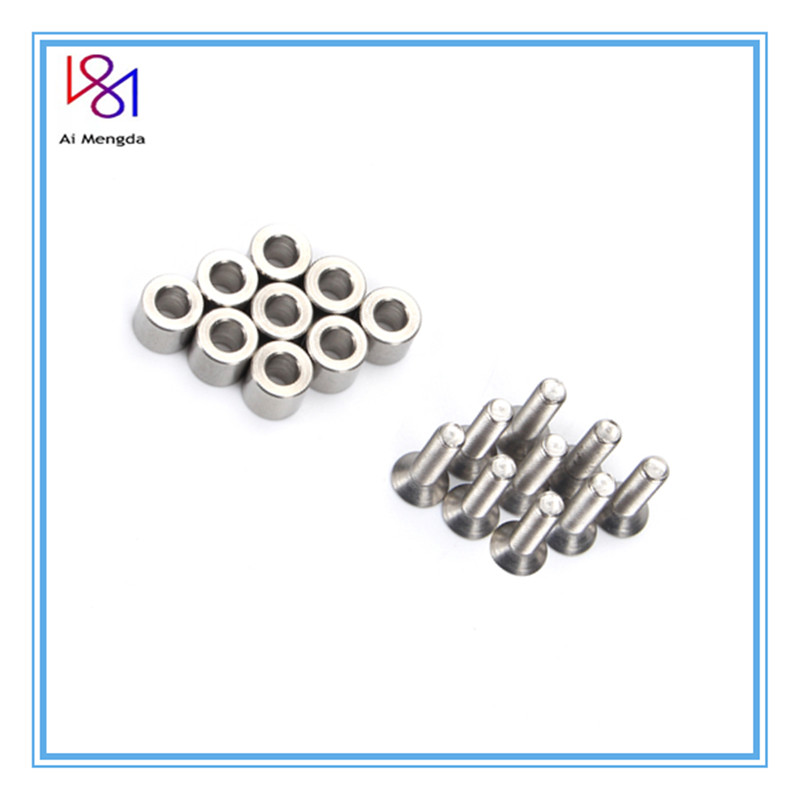 1 Set /9pcs 6x6x3mm Aluminum Spacer With 9pcs M3 Screws And Wrench As Gift For Prusa MK3 Heated Bed 6x6x3t Spacer