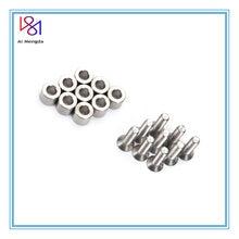 1 conjunto/9 pces 6x6x3mm espaçador de alumínio com 9 pces m3 parafusos e chave como o presente para prusa mk3 cama aquecida 6x6x3t espaçador