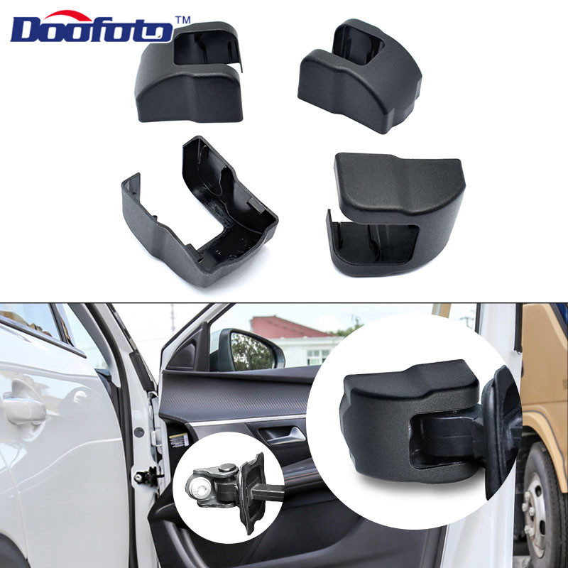 Doofoto 4x Car Door Limiting Stopper <font><b>Cover</b></font> For <font><b>Peugeot</b></font> 307 206 407 3008 <font><b>308</b></font> 208 207 508 Protective Accessories Lock Case Styling image