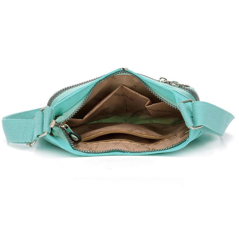 2019 Mulheres Da Moda Mensageiro Sacos De Sacos De Nylon Para As Mulheres Sacos de Ombro Bolsas De Estilistas Famosos Sacos Crossbody Sac A Principal Vermelho