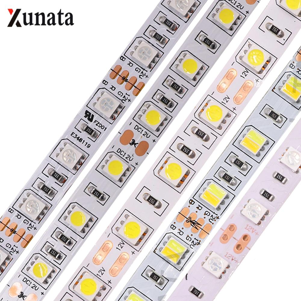 5M 300 LED Strip Light SMD 5050 5054 2835 Waterproof LED Ribbon Tape 12V RGB RGBW RGBWW LED Strip Rope Flexible Led Lamp Light