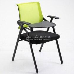 Nowe europejskie krzesło biurowe z biurkiem krzesło szkoleniowe z tablica do pisania krzesło dla pracowników prosty stół i krzesła składane
