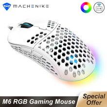 Machenike – souris de jeu optique filaire 60g PMW3325, 6400DPI, capteur lumineux, rvb réglable et Programmable, câble USB pour PC portable