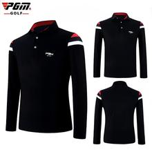PGM Golf Shirt Sweater Men Long Sleeve Fitness Breathable Elastic Sport Outdoor Sportswear Male Clothing Elastic Autumn Clothes new tactical autumn outdoor male long sleeve warm fleece sweater shirt mens elastic breathable thermal quick drying pullovers