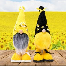 Bahar paskalya Bumble Bee Gnome Tomte Nisse İsveç Elf bebek ev çiftlik evi dekor 11UA