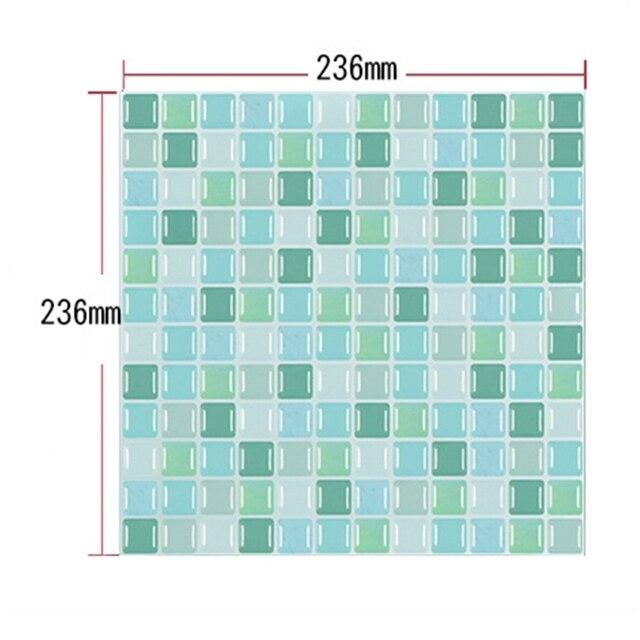 Mosaic Wall Tile Peel and Stick  Self adhesive Backsplash DIY Kitchen Bathroom Home Wall Sticker Vinyl 3D 2