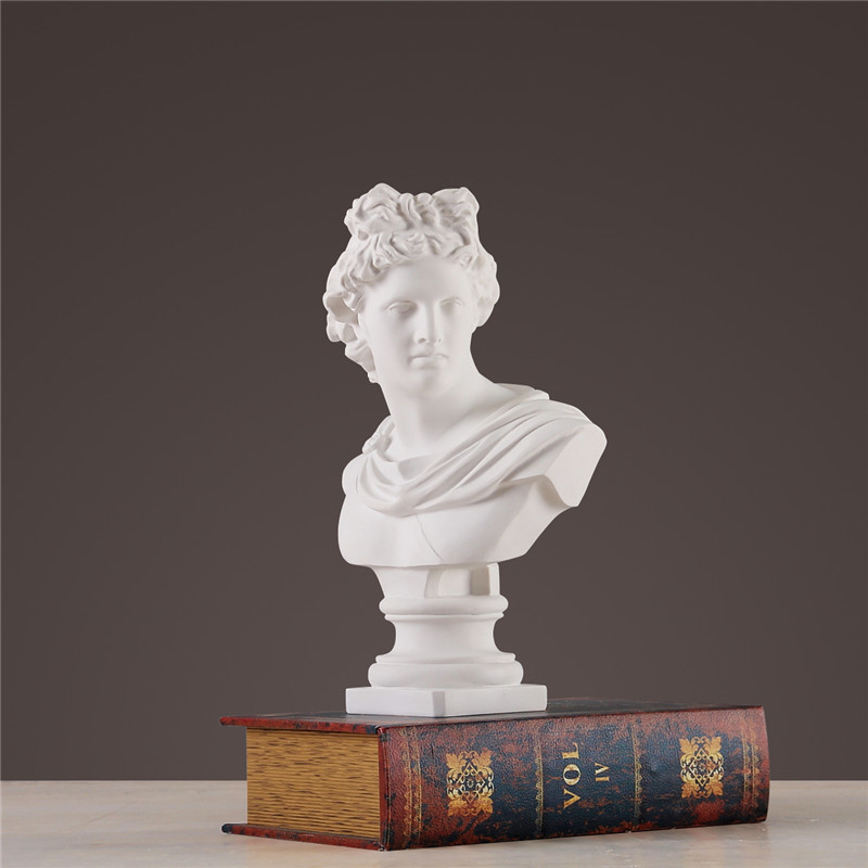 Apollo Head Portraits Bust Gypsum Greek Mythology Adelos Statue Home Decoration Resin Art&Craft Sketch Practice 31cm