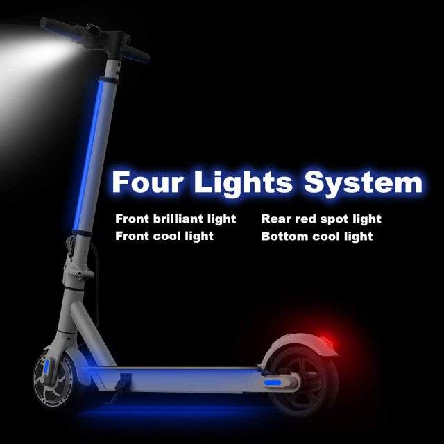 """Hiboy S2 Lite Electric Scooter 6.5"""" Solid Tires 10.6 Miles Long Range 13 MPH Folding Kick-Start Boost Scooters for Teens Adults 3"""