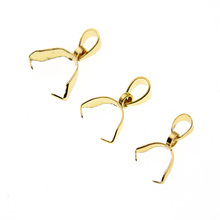 10pcs Stainless Steel Bead Clamp Pinch Bail Clip Pendants Clasps Necklace Connector Making Supplies Jewelry DIY Accessories Z422