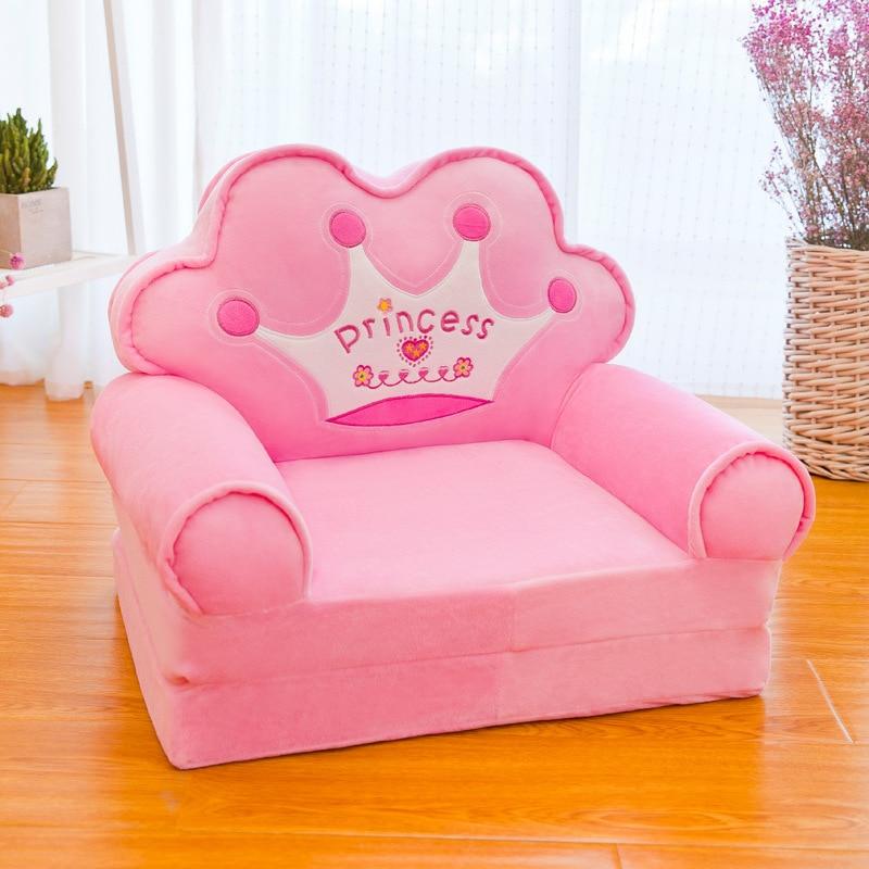 Cartoon Folding Sofa Plush Toy Children's Sofa Detachable Washable Foldable Multifunctional Baby Comfortable Sofa Seat