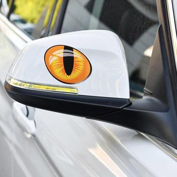 Cute Simulation Cat Eyes Car Stickers 3D Vinyl Decal Cover SALE For Rearview Decoration Engine Mirror Car HOT Head Windows N3S0 image
