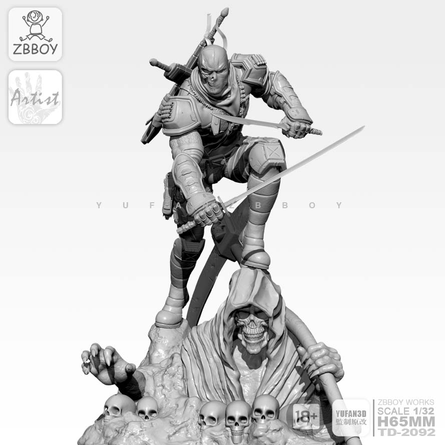 65mm 1/32 Resin  Kits  Evil Undertaker Model Self-assesmbled  TD-2092