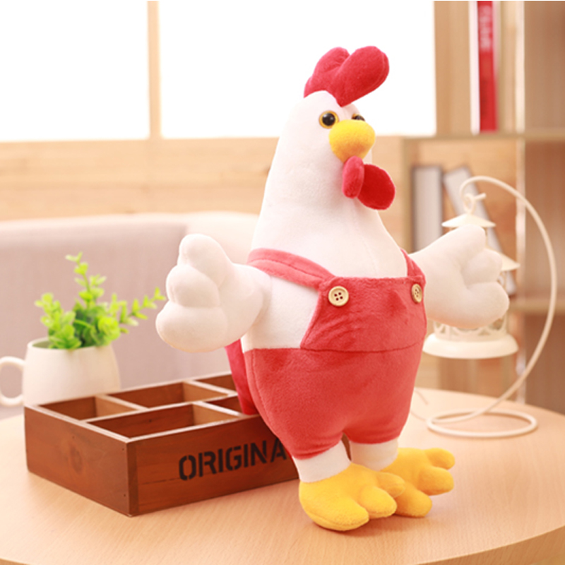 30CM Chicken Doll Stuffed & Plush Animals Children Kids Toys Cock Dolls Soft Rooster Birthday Gifts Cute Decor Pillow Wholesale