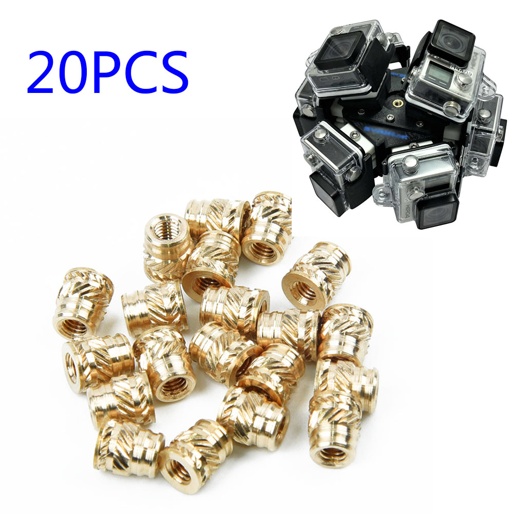 20pcs/set Heat-Set Screws M3 3mm M3-0.5 Brass Threaded Metal Thermosetting Screw Insert 3D Print Long Practical
