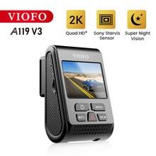 Traço cam carro dvr gravador de vídeo para o registrador de carro visão noturna hd câmera carro com modo de estacionamento dvrs a119 v3 drive recorder