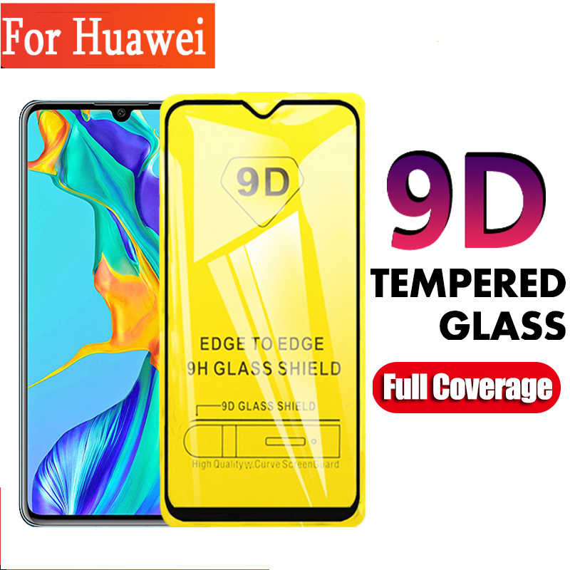 9D Full coverage Tempered Glass For Huawei P smart Z 2019 P30 P20 10 Lite Pro Mate 20 10 Lite P10 P8 P9 Lite Screen Protector
