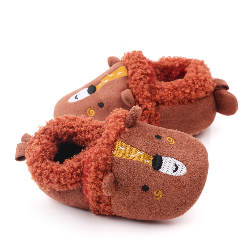 Toddler Soft Soled Walking Shoes Anti-slip Soft Sole Crib Shoes Breathable Anti-Slip Casual Cartoon Animal Sneakers
