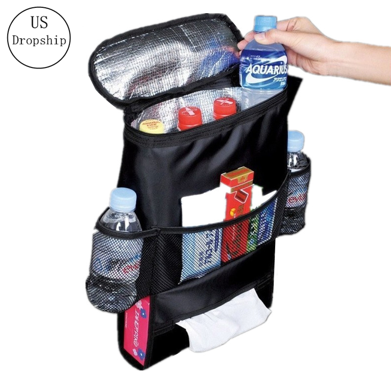 Selling Auto Food Beverage Storage Organizer Bag Nsulated Container Basket Picnic Lunch Dinner Bag Ice Pack Cooler Item Product image