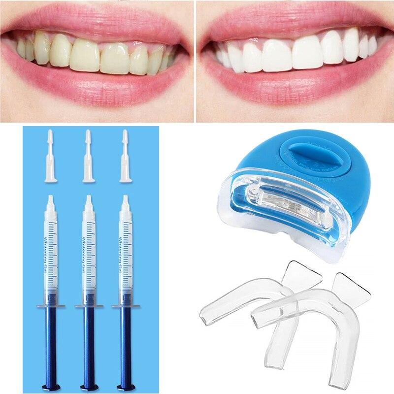 Teeth Whitening Kit 44% Peroxide Dental Bleaching System Oral Gel Kit Tooth Whitener New Dental Equipment LED Light Professional