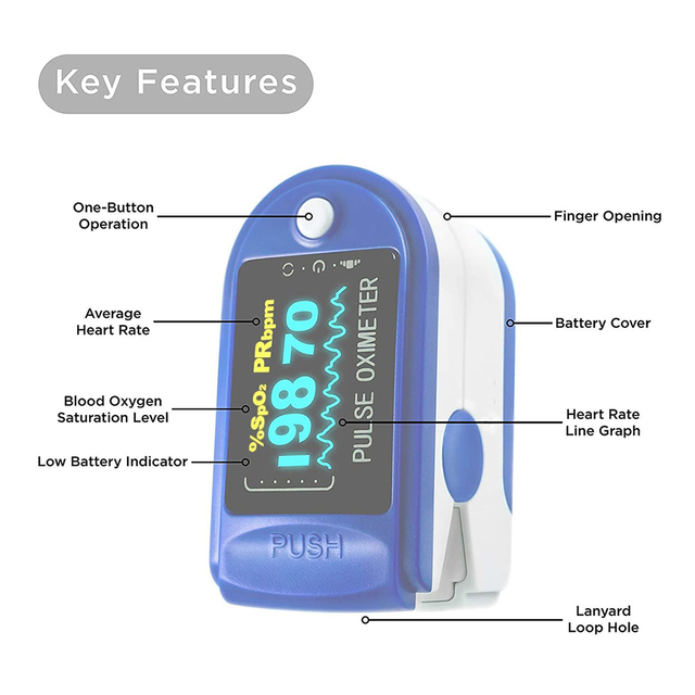 Blood oxygen Finger pulse Portable oximeter (without battery)