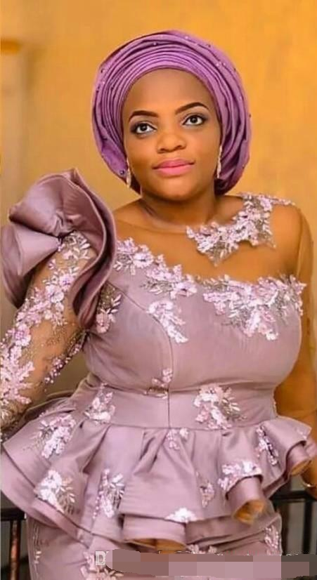 Elegant Ruffle Mermaid Evening Dress abiye Lace Applique Plus Dubai Arabic Long Party Prom Dresses Formal dress robe de soiree