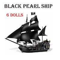 Karayip korsanları siyah İnci gemi modeli yapı taşları eğitici oyuncaklar çocuklar için tuğla doğum günü hediyeleri