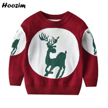 Sweater Girls Pullover Knitted Fashion Cotton Cartoon Crochet Spring Deer O-Neck 18m-6-Years