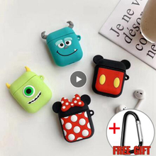 For Airpods Airpod Case cute Wireless Earphone Cartoon earpods 2 Cover With Hooks airpods accessories