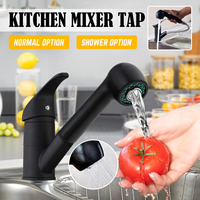 Xueqin Black Pull Out Spray Kitchen Basin Sink Water Faucet 360 Degree Rotation Mixer Tap Spout Bathroom Hot Cold Water Faucet